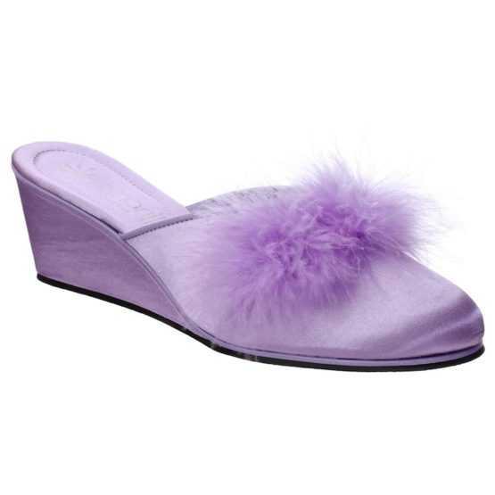 Pantofole da Donna Beatrice Lilla con Marabou