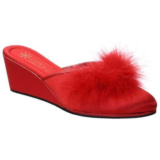 Pantofole da Donna Beatrice Rossa con Marabou