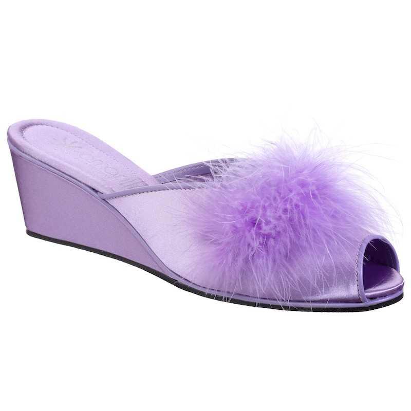 Pantofole da Donna Claudia Lilla con Marabou