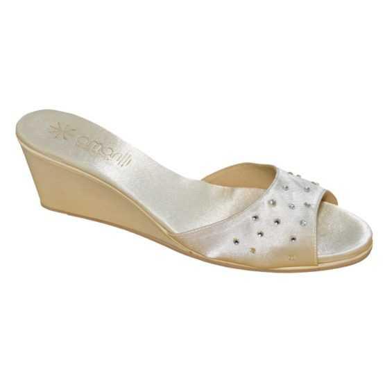 Amarilli Pantofole da Sposa Stefania Avorio Strass