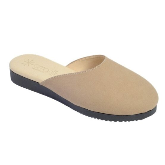 Pantofola Rosa Amarilli Pelle Camoscino Cammello