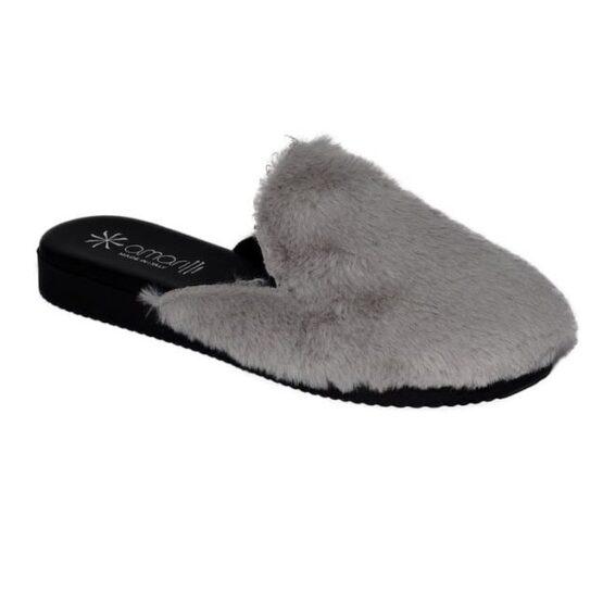 Pantofola da Donna Amarilli Rosa Ecopelliccia grigio