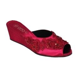 Pantofola da donna Amarilli Claudia Fiori e Paillettes