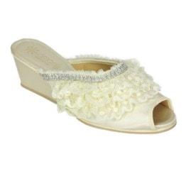 Pantofola da donna Amarilli Claudia Pizzi e Strass Avorio